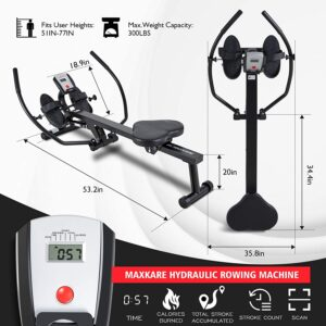 MaxKare Magnetic Hydraulic Folding Rower