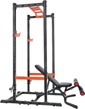 Sunny Health & Fitness Power Zone Strength Rack Power Cage