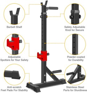 AKYEN Adjustable Squat Rack Stand