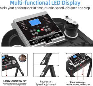 Moskado Folding Treadmill LCD Display