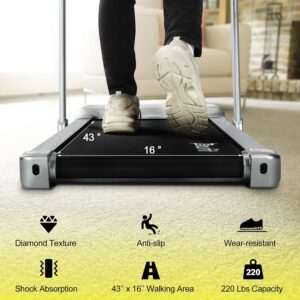 doufit td-01 under desk electric treadmill