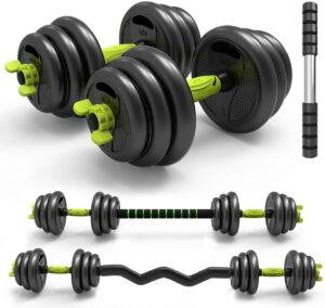 PIN JIAN Adjustable Weight Dumbbells Barbell