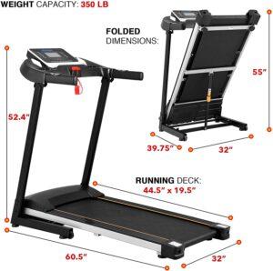 KWIKWI 550W Folding Electric Treadmill