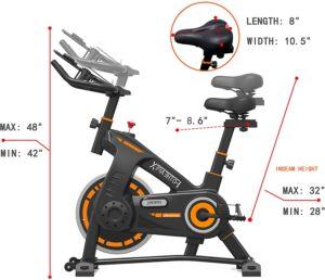 FOTHEAPEX Indoor Exercise Bike