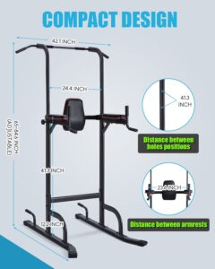 Ouyu 4 Level Adjustable Power Tower Home Gym