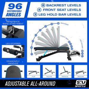 SpottU Adjustable Workout Weight Bench Press