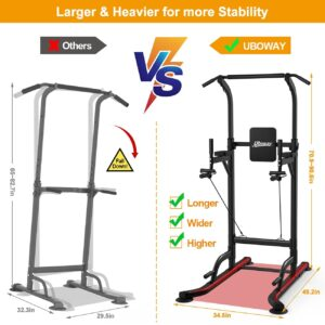 UBOWAY Power Tower -Pull Up Bar Stand &Dip Station