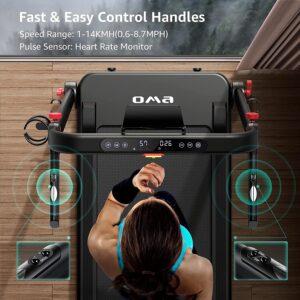 OMA 1012EB Folding Premium Treadmill LCD Dsiplay