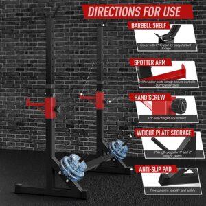 RETC Adjustable Multi-Function Barbell Rack